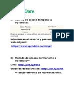 Cuenta de Acceso UPTODATE III