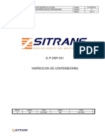 D P DEP 001 Inspeccion de Contenedores