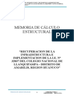 Memoria de Calculo Estructural Llanquipampa
