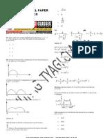 Aieee-2010  Model Paper/SAMPLE PAPER BY ANURAG TYAGI CLASSES