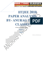 IITJEE2010_Paper1 SOLUTION BY ANURAG TYAGI CLASSES