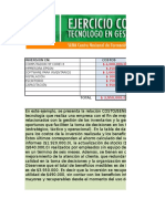 Ejercicio Excel Costo Beneficio