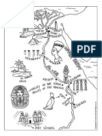 Ancient Egypt Map Colouring