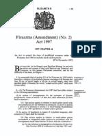 Firearms Amendment) (No. 2) Act 1997