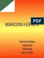 Migracions a Espanya