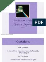 Sabrina's Light & Optics Inquiry
