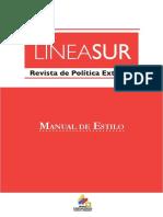 Manual de Estilo Revista de Geopolítica