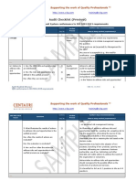 ISO Audit Checklist xls | Audit | Verification And Validation