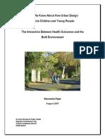 Children and Urban Design