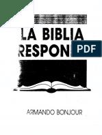 Juan a. Bonjour. La Biblia Responde.