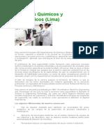 Procesos Químicos y Metalúrgicos