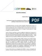 Justicia para el Consejo Cívico de Organizaciones Populares e Indígenas de Honduras (COPINH), la familia de Berta Cáceres y Gustavo Castro.