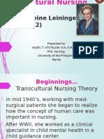 Presentation Transcultural Nursing