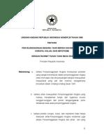 Uu No. 28 Tahun 1999 Tentang Penyelenggaraan Negara Yang Bersih Dan Bebas Dari Kkn