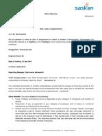 Offer Letter Sasken Nancharaiah Gudavalli