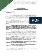 Decreto 873-04 dispone caracter provisional miembros Ministerio Publico