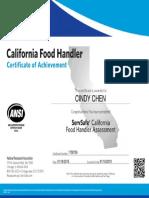 california food handler certificate