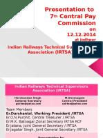IRTSA Presentation to 7th CPC 12-12-2014 Jodhpur