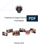 Treatment and Support Project Services Report Update