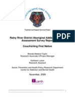 Rainy River District Aboriginal Addiction Needs Assesment Survey Report - Couchiching First Nation
