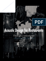 Knauf E-book Acoustic Design for Restaurants