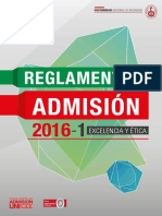 Reglamento de Admisión a UNI 2016 -1