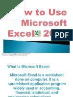 Elizabeth_Verar_How to Use Microsoft Excel 2010
