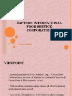 Eastern International Food Service corp A Case