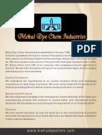 Mehul Dye Chem Industries Gujarat India