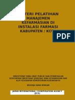 Materi Pelatihan Manajemen Kefarmasian Di Instalasi Farmasi Kabupaten Kota