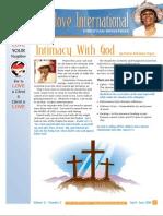 Christlove International Newsletter April-June