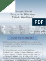 Notas sobre el Estado Liberal, Estado del Bienestar y el Estado Neoliberal