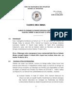 Taarifa Kwa Umma - Kamati Kuanza Machi 14 2016-2