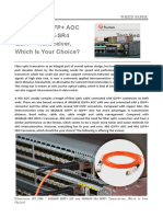 40GBASE QSFP+ AOC and 40GBASE-SR4 QSFP+ Transceiver, Which Is Your Choice