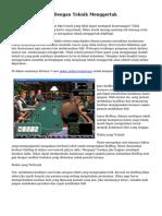 Tips Poker Online Dengan Teknik Menggertak