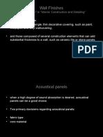Presentation wall fin