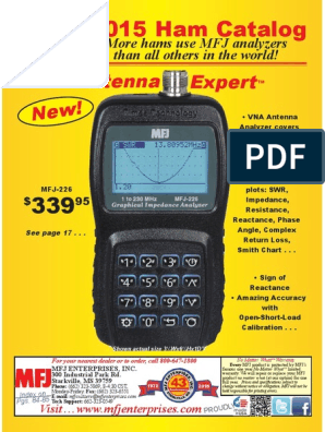 MFJ 2015 Ham Radio Catalog | Antenna (Radio) | Coaxial Cable