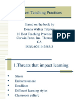 PROFESIONALISME GURU- 10 BEST TEACHING PRACTICES