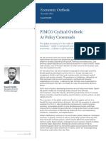 Cyclical Economic Outlook PIMCO