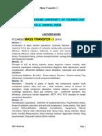 Mass Transfer i