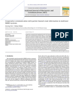 Cooperative Communication With Partial Channel-state Information in Multiuser
