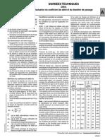 évaluation du coefficient de débit et du diamètre de passage