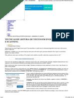 Técnicas de Leitura de Textos Em Inglês - Skimmimg e Scanning