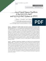 Modelling of Liquid-Vapour Equilibria
