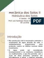 Mecânica Dos Solos II - Hidráulica Dos Solos