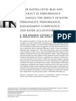 Accuracy in Performance Appraisals