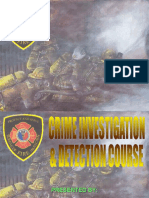 Fire Related Crime Investigation and Detec. Course