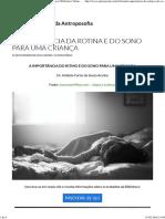A Importância Da Rotina e Do Sono Para Uma Criança (BVA)