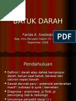 INTERNA Dr. FArida - Batuk Darah