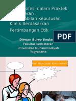 Etika Profesi Dalam Praktek Kedokteran Materi Pelatihan Dokter Baru